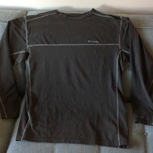 Columbia Grey Omni-Dry Long Sleeve Shirt